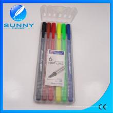Fineliner Marker, Water Color Pen en PP Estuche de embalaje