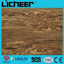 Wpc impermeabilizan el suelo compuesto del piso Precio 5.5 milímetros Wpc el suelo 7inx48in de alta densidad Wpc el suelo de madera