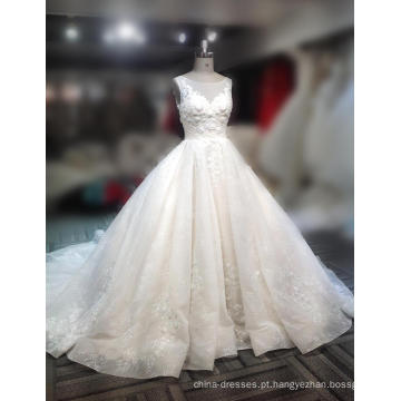Fabricante vestido de baile personalizado vestido de baile marfim amostra de tule 2018 vestidos de vestidos de noiva