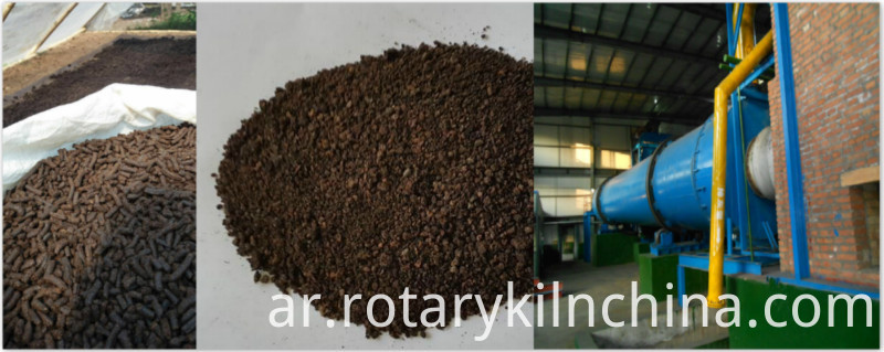 Working principle of chicken manure rotary dryer