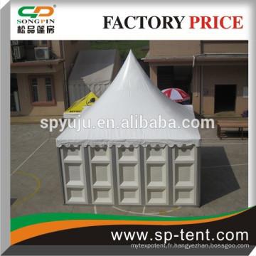 Tente pagode avec mur solide pour événement, entrepôt
