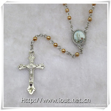 Pope Francis, Scent Rosary with Jesus Christ Crucifix Cross Packing by Plastic Box (IO-cr383)