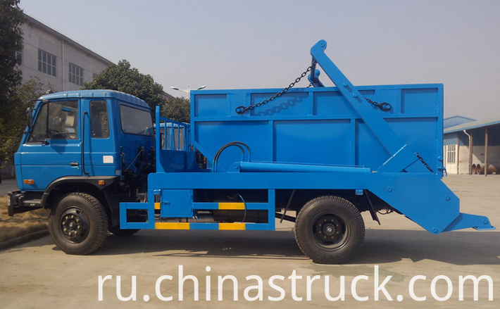 8Ton swing arm garbage container truck