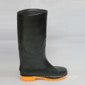 Botas de trabajo de lluvia (Negro superior / amarillo Sole)