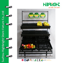 supermarket banana display rack and stand with wheels