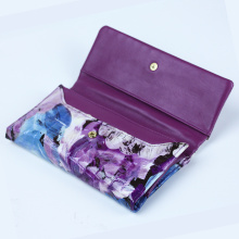 Fashion Pattern Flowers Design Card Holder Leather Purse