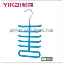 Colgantes corbatas con perchas exhiben perchas con 11 estantes