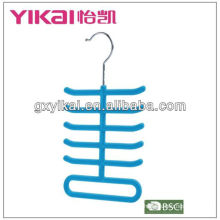 competitive price flocking tie and scarf hanger with 11 racks