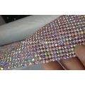High Quality Aluminium Mesh with Shiny Chaton and Strong Glue On Back Side