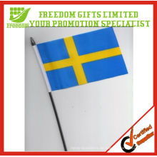 Beste begrüßte Top-Qualität Logo gedruckt Promotion Hand Flag