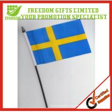La mejor bienvenida logotipo de calidad superior impreso bandera de mano de promoción