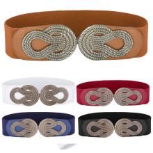 Grace Karin Women Ladies Girls Fashion Wide Metal Buckle Stretchy Elastic Waist Belt Waistband CL010411