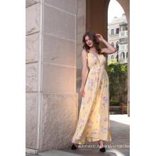 Женское платье макси с цветочным принтом