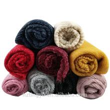 Meistverkaufte Frauen muslimischen Mode Rayon Maxi Schal Schal Frauen Baumwolle Falten Schimmer Hijab Muslim