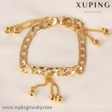 71348 Xuping 18K chapado en oro corazón y pulsera de perlas, pulsera de mujer de moda