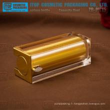 ZB-PK15 15ml chaud-vente de luxe et noble carré belle or coloré vide bouteille