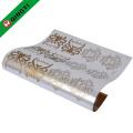 feuille d'estampage à chaud d'or utilisée dans le vêtement