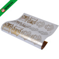 gold hot stamping foil used in garment