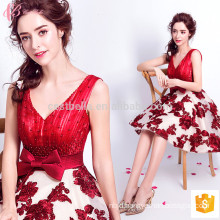 Cape Aqua Red Real Sample New Evening Dress