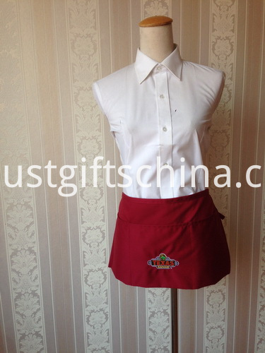 Custom Work Short Waist Apron - Embroidered Logo (2)