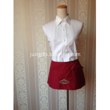 Custom Work Short Waist Apron - Embroidered Logo