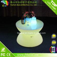 Table basse en verre de meubles de LED pour le jardin