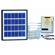 4PCS 1W Solar LED Lighting Kits System with FM Radio From ISO Solar Factory