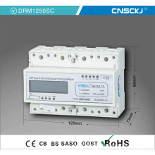 Digital DIN Rail Three Phase Kilo Watt Meter with LCD