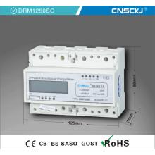 Medidor elétrico trifásico do trilho DIN de quatro fios