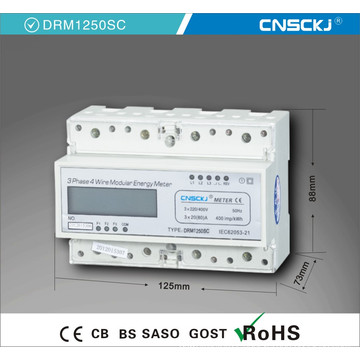 Electronic Rail Kwh Power Meter with 30A LCD Digital Energy Meter Power Meter 3phase 4wire
