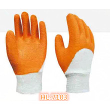 Cotton Interlock Latex Wave Crinkle Glove