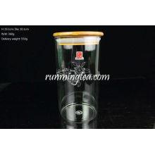 Bambus Deckel Gerade hoch Borosilikat Glas Kanister