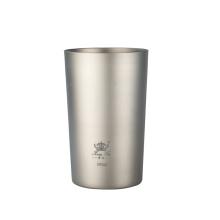 Vaso de vaso de cerveza de titanio puro