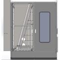 Máquina de lavar de vidro plano industrial duplo vertical