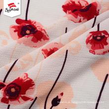 Stocklot de luxo impresso tecido de malha camisetas