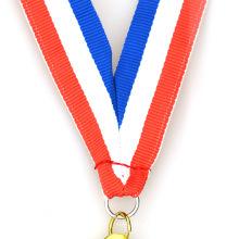 Fein verarbeitete bedruckte Stoff benutzerdefinierte militärische Medaille Bänder