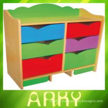 Kindergarten Classroom Train Design Kids Toy Storage Cabinet