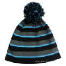 Bonnet tricoté avec POM POM NTD013