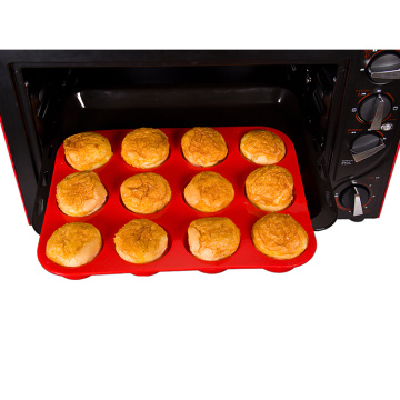 Molde de ferramentas de cozimento do muffin Eco-friendly do bolo do silicone