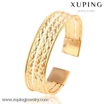 51477 brazalete ancho de color oro de 18k para brazalete de mujer