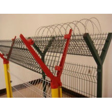 Airport Y-shape wire mesh fence