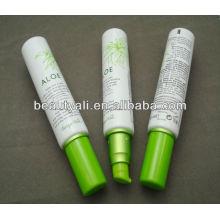 Tubo cosmético plástico vacío de la loción