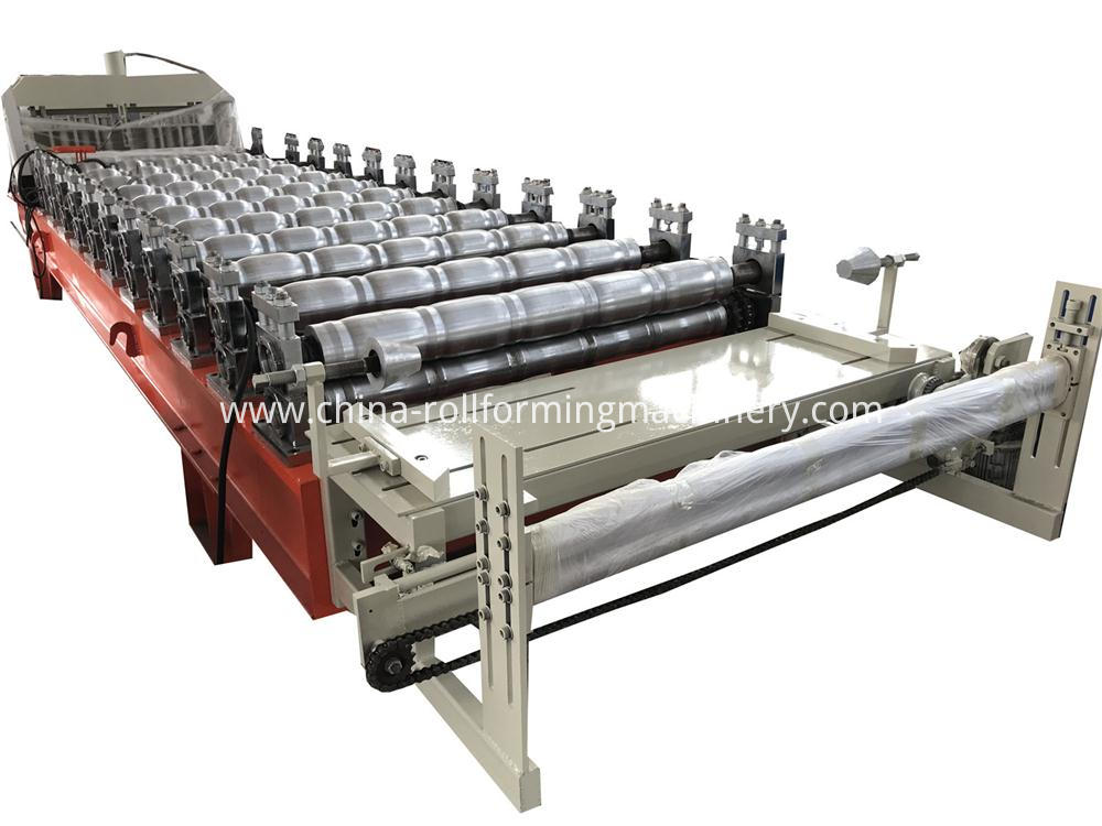 Feeding Side Of Glazed Tile Roll Forming Machine