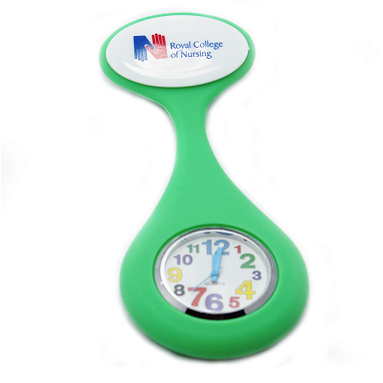 Round face silicone nurse watch with multiple colors