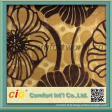 tissu de velours motif floral tissu nouveau modèle