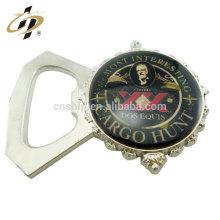 Novos produtos logotipo personalizado liga de zinco decoração de casamento metal garrafa abridor