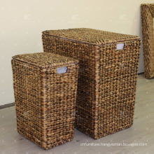 Water Hyacinth Laundry Basket Wicker Furniture - Set of 3