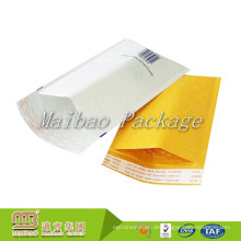 Starker selbstklebender Streifen-kundenspezifischer Logo-Druck aufgefüllter Versandtasche-weißer Kraftpapier-Blasen-Umschlag-Versandtasche