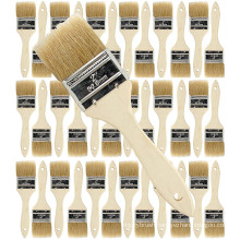 Natural White Bristle Chip Brush Natural Wooden Handle Oil Paint Brush Set