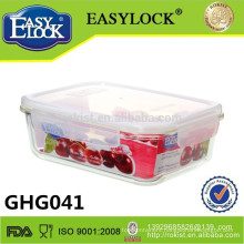 heat-resistant microwave insulated glass lunch container 1600ml